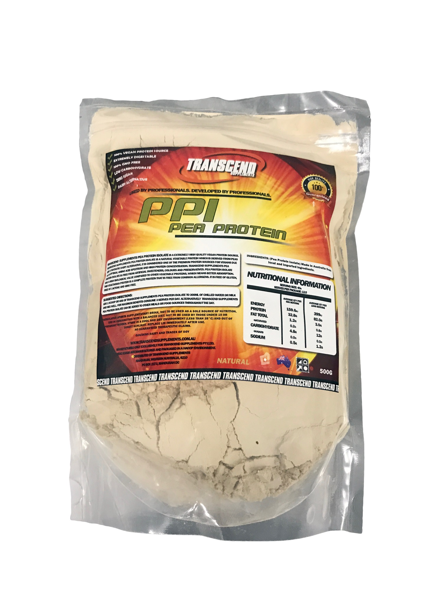 Transcend Supplements Rice Protein Concentrate 500g