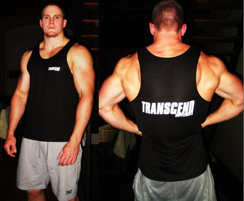 Transcend Supplements Singlet - Black & White
